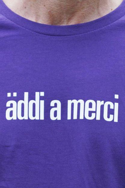 "MEN'S T-Shirt ""äddi a merci"": Shirt colour ""Plum"", Print ""White"""