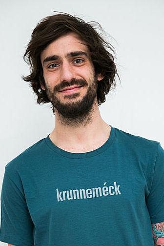 """MEN'S T-Shirt """"krunneméck"""": Shirt colour """"Stargazer"""", Print """"Light grey"""""""