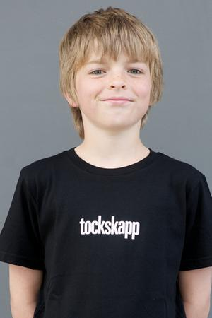 "KIDS' T-SHIRT ""tockskapp"": Shirt colour ""Black"", Print ""White"""
